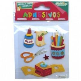 Adhesivos pequeños escuela