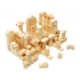 Saco con cubos de madera