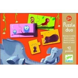 Puzzle Dúo Mamá y Bebé, Djeco