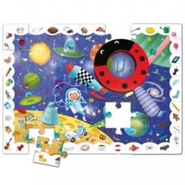 Puzzle baby detective In space