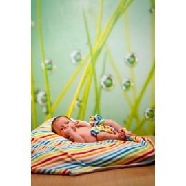 Manta de algodón orgánico Rayas de colores, ImseVimse