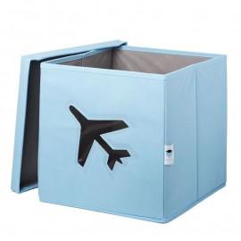 Cubo de almacenaje Avión Azul