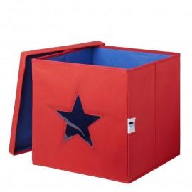 Cubo de almacenaje Estrella Rojo