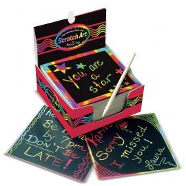 Notas mágicas arcoíris, 125 unidades, Scratch Art