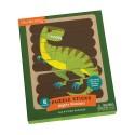 Puzzle Sticks Dinosaurios poderosos, Mudpuppy