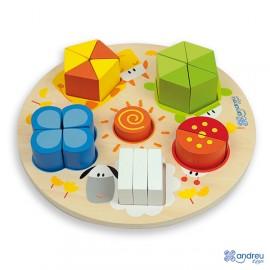 Encajable formas numérico - Chunky Numeric Puzzle, Andreu Toys