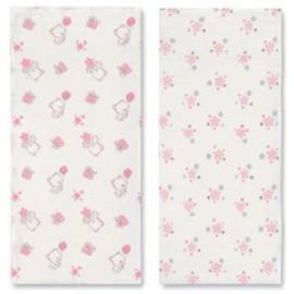Muselina 120x120 Pirulos Osito Estrellas rosa