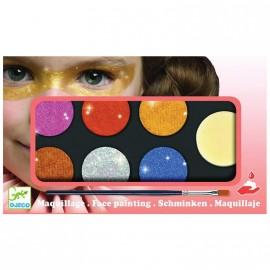 Maquillaje 6 Colores Efecto Metal, Djeco