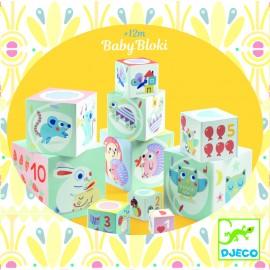 10 Cubos Baby Bloki, Djeco