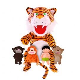 Set de marionetas El libro de la selva, Fiesta