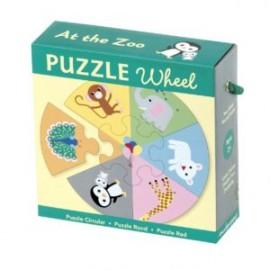 Puzzle rueda En el zoo