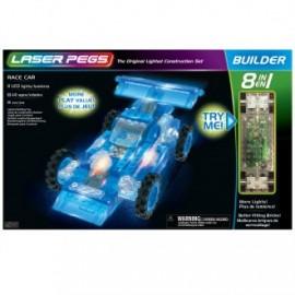 Coche de carreras 8 en 1 111 piezas, Laser Pegs