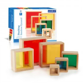 Stacking Rainbow Pyramid, Guidecraft