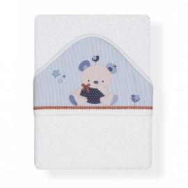 Capa de Baño Friends Baby blanco-azul, Interbaby