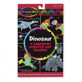 Scratch Art Dinosaurios (arcoíris y hologramas)