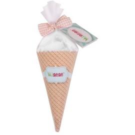 Cono de helado Doudou cuadrado Gris, Minene