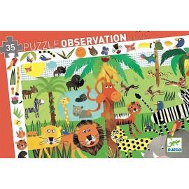 Puzzle Observación La Jungla 36 pzs., Djeco