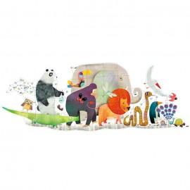 Puzzle Gigante El desfile de los animales 36 pzs., Djeco