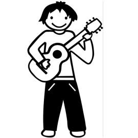 Papá guitarrista, Pegatinas de familia