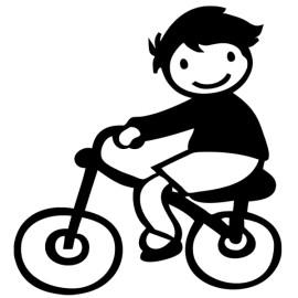 Niño triciclo, Pegatinas de familia