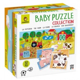 Puzzle baby doble cara 8 animales y la granja, Ludattica