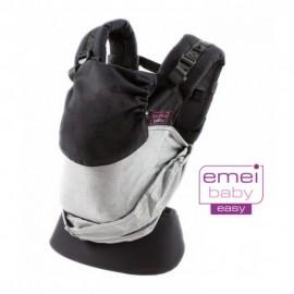 Mochila ergonómica Emeibaby Easy Gris y negro