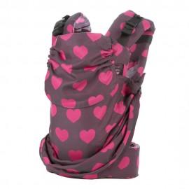 Mochila ergonómica Emeibaby Easy Corazones rosa
