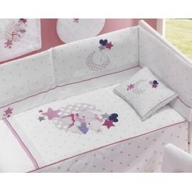 Conjunto cuna 3 piezas Amorosos rosa, Interbaby