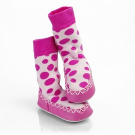Calcetines antideslizantes Mocc Ons Lunares Rosa