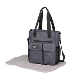 Bolso carry con cambiador (30x34x10) Denim gris, Pirulos