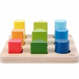 Clasificador de colores y formas, Hape