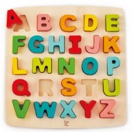 Puzzle Encajable Alfabeto mayúsculas, Hape