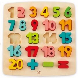 Puzzle Encajable Números y matemáticas, Hape