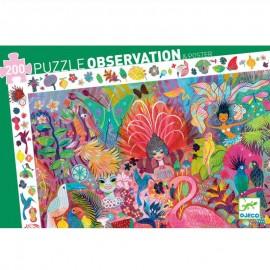 Puzzle Observación Carnaval de Río 200 pzs., Djeco