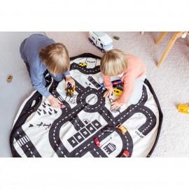 Bolsa de almacenaje y tapete de juego 2 en 1 Play & Go Roadmap