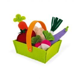 Cesta 8 verduras de tela, Janod