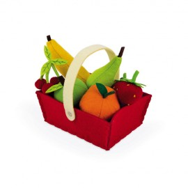 Cesta 8 frutas de tela, Janod