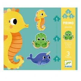 Puzzle evolutivo En el mar, Djeco