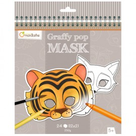 Graffy pop Mask. Máscaras para colorear, Animales
