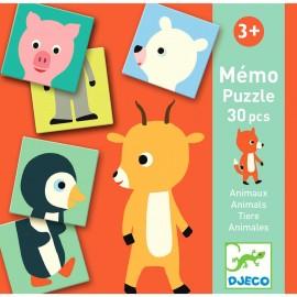 Memo Puzzle Animales, Djeco