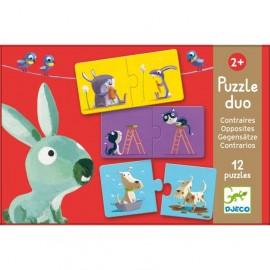 Puzzle Dúo Contrarios, Djeco