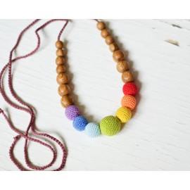 Collar de madera para porteo y lactancia Simple Rainbow, KangarooCare