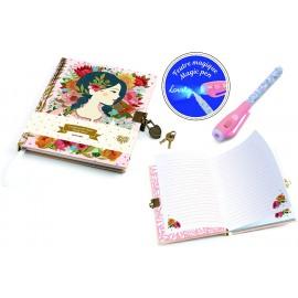 Cuaderno secreto con rotulador mágico Oana, Djeco
