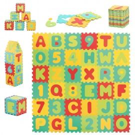 Alfombra puzzle gigante letras y números