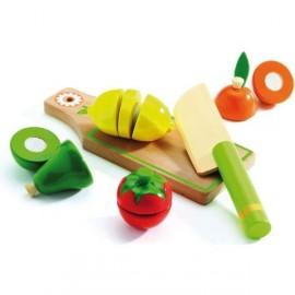 Frutas y vegetales para cortar, Djeco