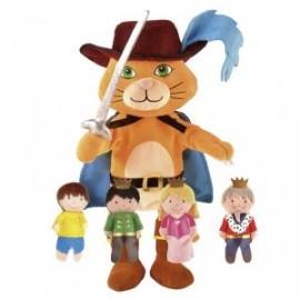 Set de marionetas El gato con botas, Fiesta