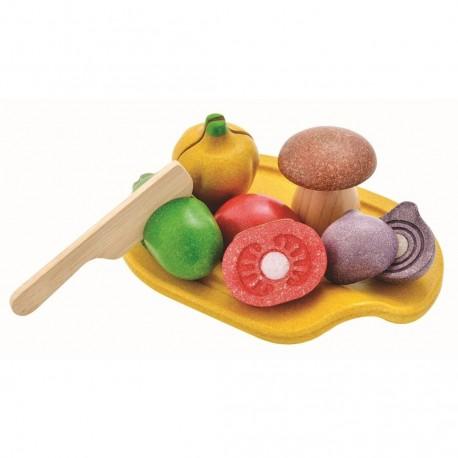 Surtido de Verduras para cortar, Plan Toys