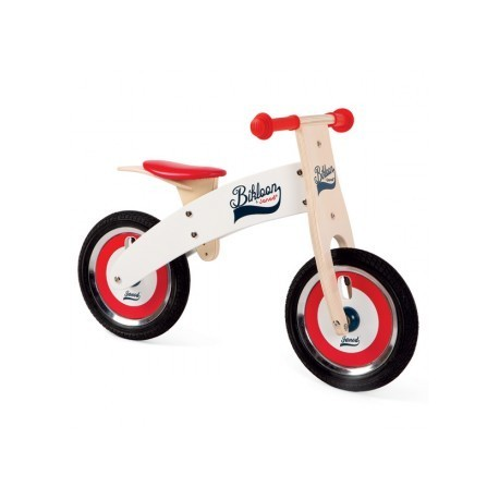 Bicicleta sin pedales Bikloon Rojo y blanco, Janod
