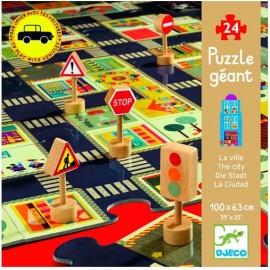 Puzzle gigante La Ciudad 24 pz., Djeco