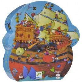 Puzzle Silueta El Barco Pirata 54 pzs., Djeco